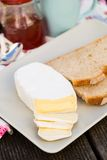 Sliced camembert cheese Royalty Free Stock Images