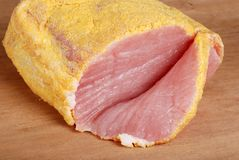 Sliced canadian peameal bacon Royalty Free Stock Photography