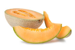 Sliced Cantaloupe  Royalty Free Stock Photography