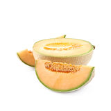 Sliced cantaloupe melon composition Royalty Free Stock Images