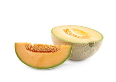 Sliced cantaloupe melon composition Royalty Free Stock Image
