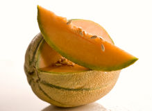 Sliced cantaloupe Royalty Free Stock Photos