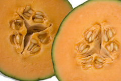 Sliced Canteloupe Melons Stock Images
