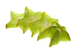 Sliced Carambola  Royalty Free Stock Images