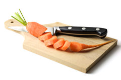Sliced Carrot. Isolated on white Stock Image