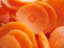 Sliced Carrot. S royalty free stock photos