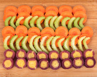 Sliced carrot and celery Stock Image
