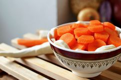 Sliced carrot and parsnip Stock Photography