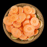 Sliced carrot slices in a bowl Royalty Free Stock Photo