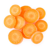 Sliced carrot Royalty Free Stock Photography