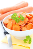 Sliced carrots Royalty Free Stock Photography