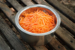 Sliced carrots in a bowl Royalty Free Stock Photos