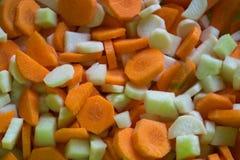 sliced-carrots-parsley-and-kohlrabi Royalty Free Stock Photos