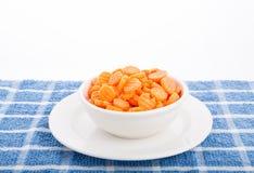 Sliced Carrots in White Bowl Stock Image
