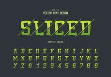 Sliced cartoon font and alphabet vector, Typeface and number design, Graphic text on background. Sliced cartoon font and alphabet vector, Typeface and number vector illustration