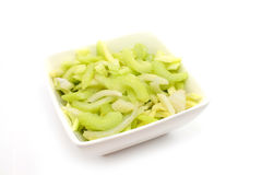 Sliced celery Stock Photo