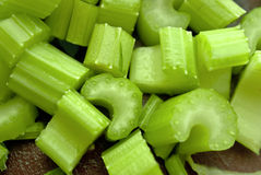 Sliced celery Royalty Free Stock Photo
