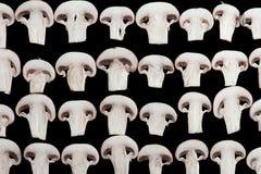 Sliced champignon mushrooms Royalty Free Stock Image