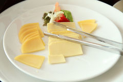 Sliced of cheese Royalty Free Stock Images