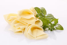 Sliced cheese Stock Photography