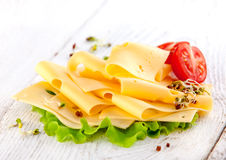 Sliced cheese Royalty Free Stock Photography