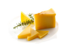 Sliced cheese Stock Image