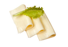 Sliced  cheese isolated Royalty Free Stock Photos