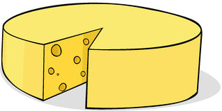 Sliced cheese isolated - vector illustration Royalty Free Stock Photo