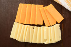 Sliced cheese Royalty Free Stock Image