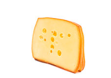 Sliced cheese Royalty Free Stock Images
