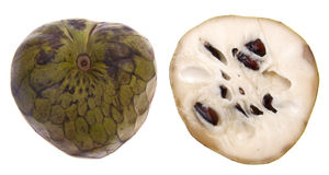 Sliced Cherimoya Stock Photos