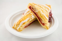 Sliced Cherry Danish Royalty Free Stock Images