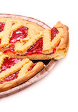 Sliced Cherry Pie Royalty Free Stock Images