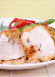 Sliced chicken breast Royalty Free Stock Images