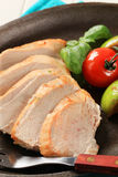 Sliced chicken breast Stock Photos
