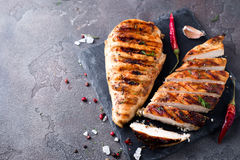 Sliced chicken breast Royalty Free Stock Photography