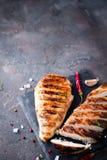 Sliced chicken breast Stock Image