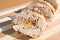 Sliced Chicken roll Stock Photo