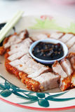 Sliced Chinese boneless roast pork Royalty Free Stock Photo