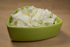 Sliced chinese cabbage stock photos
