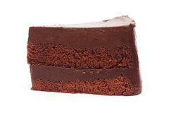 Sliced chocolate cake Royalty Free Stock Images