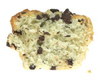 Sliced Chocolate Chip Muffin Stock Photography
