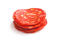 Sliced chorizo salami Royalty Free Stock Photos