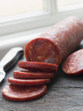 Sliced Chorizo Sausage Stock Image