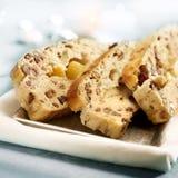 Sliced christmas raisin bread Stock Images