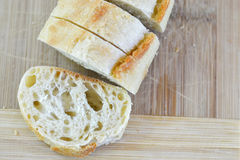 Sliced Ciabatta Baguette Loaf Royalty Free Stock Images