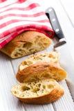 Sliced ciabatta bread Stock Images