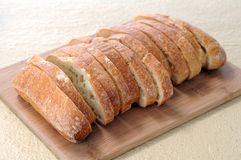 Sliced ciabatta bread Royalty Free Stock Image