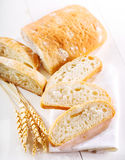 Sliced ciabatta bread Stock Photo