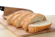 Sliced ciabatta flat bread Stock Image